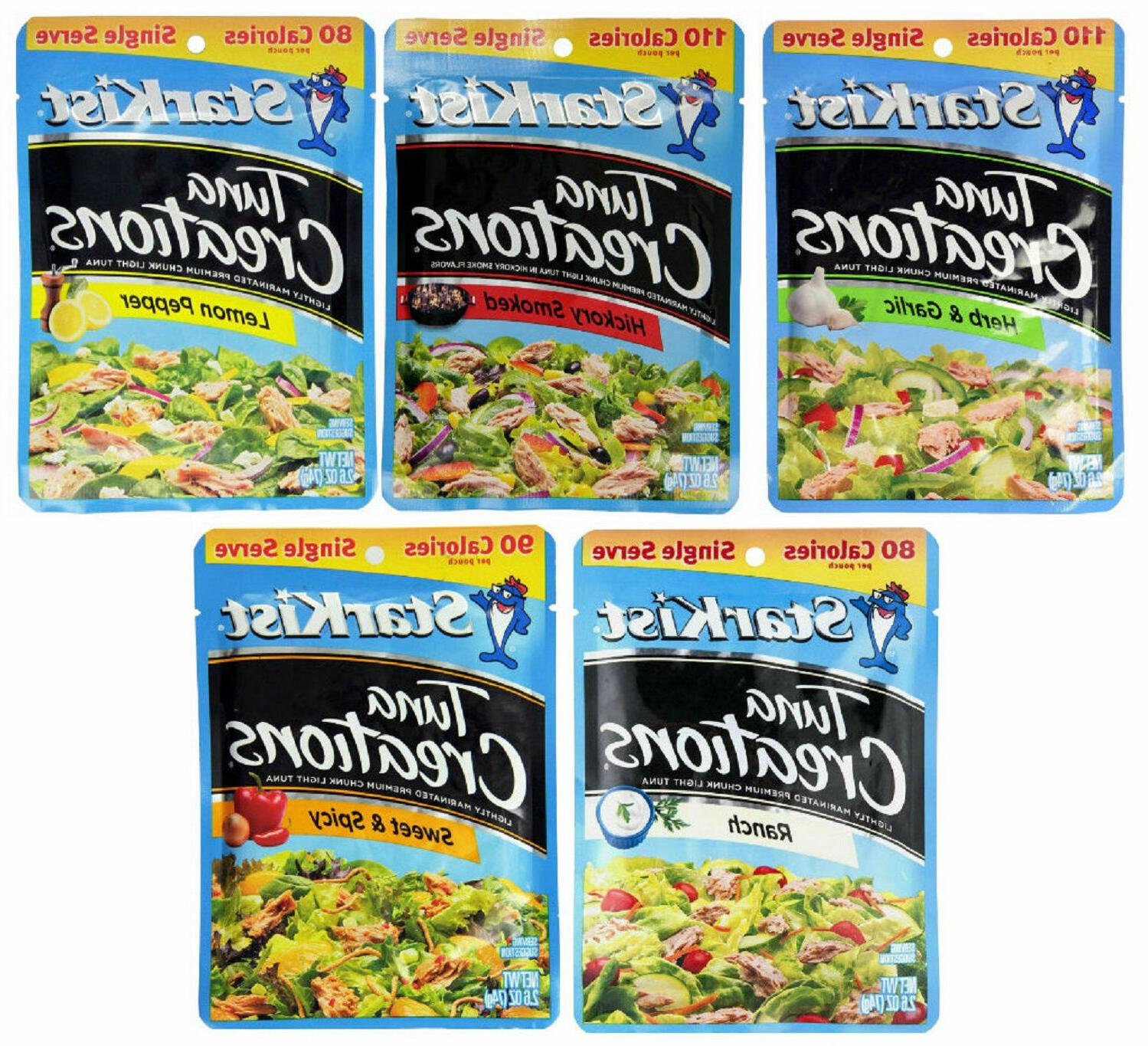 StarKist Tuna Creations Variety Pack 5 Flavors 5 Pouches Eac