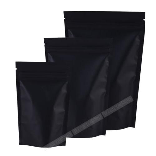 Variety of Sizes for Matte Black Foil Stand up Zip Lock Ince