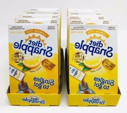 Diet Snapple Lemon Iced Tea Singles To Go Drink Mix 10 Boxes