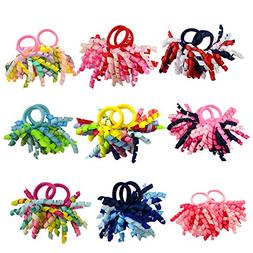 PIDOUDOU Pack of 18 Mix Color Boutique Girls' Curly Korker B