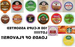 MIXED ASSORTED FLAVORS K CUP VARIETY PACK LOT of 100! K-Cups