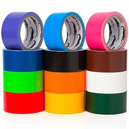 Multi Colored Duct Tape - Variety Pack -12 Colors - 10 yards