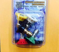 New Variety Deg. & Color 5 Pack Hi Pressure Washer Nozzle Sp