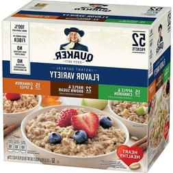 Quaker Oats Instant Oatmeal Variety Pack 52 Ct Maple Brown S