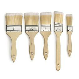 Neiko 00428 Paint and Chip Brush Set with Wood Handles | 5-P