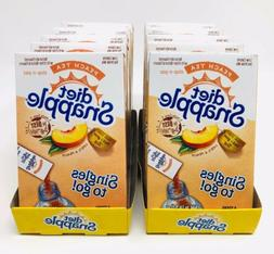 Diet Snapple Peach Iced Tea Singles To Go Drink Mix 10 Boxes