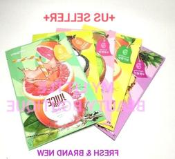 peripera JUICE TIME 5 Variety Pack Korean Facial Mask Sheet