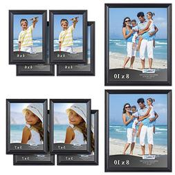 Icona Bay 10pc Table Top Picture Frame Set  Two - 8x10, Four