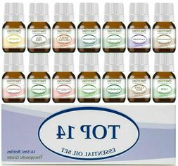Plant Guru Essential Oil Set 14 - 5 ml. Pure Therapeutic Gra