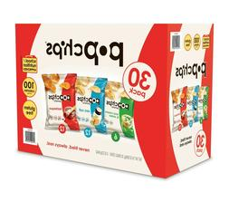 Popchips Potato Chips, Variety Pack, 0.8 oz, 30-count,BEST S