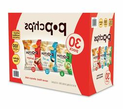Popchips Potato Chips, Variety Pack, 30 Count , 3 Flav