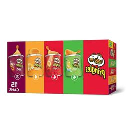 Pringles Potato Crisps Chips, Flavored 15 Count Variety Pack