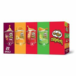 Pringles Potato Crisps Chips, Flavored Variety Pack, 15 Coun