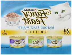 Fancy Feast Purina Grilled Seafood Feast Variety Pack, 4.5 l