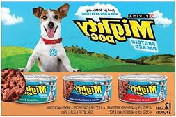 Purina Mighty Dog Variety Pack, Hearty Beef Dinner, Chicken