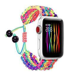 Bandmax Rainbow Band Compatible for Apple Watch 38MM 40MM, C