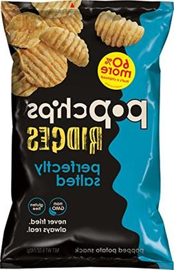 Popchips Ridged Potato Chips, Salted Potato Chips, 12 Count