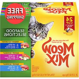 Meow Mix Seafood Selections Variety Pack Wet Cat Food, 2.75-