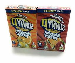 Sunny D Singles to Go Sugar Free Variety Pack of Strawberry