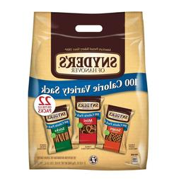 SNYDER'S OF HANOVER 100 CALORIE PRETZEL VARIETY PACK 22CT- P