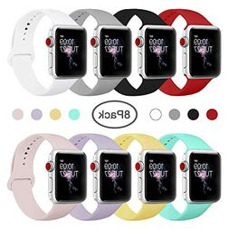 BMBMPT Sport Band for Apple Watch 38mm 40mm 42mm 44mm, Soft