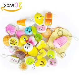30 Count/Pack Squishy Cream Scented Lovely Mini Simulation S