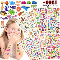 Stickers for Kids 1500+, 20 Sheets 3d Puffy Stickers, Scrapb