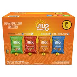 Sun Chips Whole Grain Chips, Variety Pack, 1.5 oz, 30-count