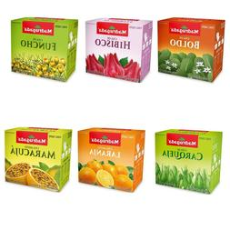 Tea Variety from Brazil Bundle Pack - 60 Bags - Different Fl