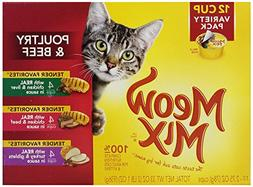 Meow Mix Tender Favorites Poultry & Beef Variety Pack, 2.75-