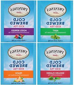 Twinings Cold Brewed Iced Tea Bag Sampler 40 Ct Includes: Mi