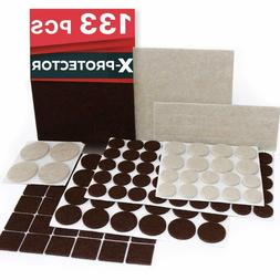 Floor Protectors For Furniture Legs 133 piece Pads For Hardw