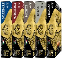 Cafe Alloro Ultra Premium Variety Pack For Nespresso Brewers
