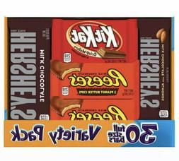Hershey's Full Size Variety Pack - 30 ct.