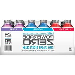 Variety Pack Powerade Zero Calorie Sports Drink, 24 ct./20 o