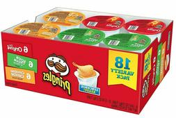 Pringles Variety Potato Chips Lunch Pack - Original, Sour Cr