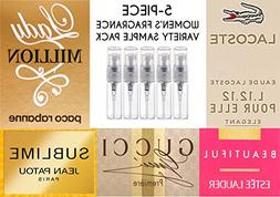 Women's 5-Piece Fragrance Variety Sample Pack )