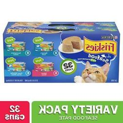 Purina Friskies Seafood Adult Wet Cat Food Variety Pack -  5