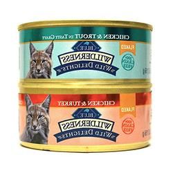 Blue Wilderness Grain-Free Wild Delights Flaked Cat Food Var