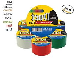 "Bazic 1.88"" X 10 Yard Solid Colors Duct Tape, Assorted Color"